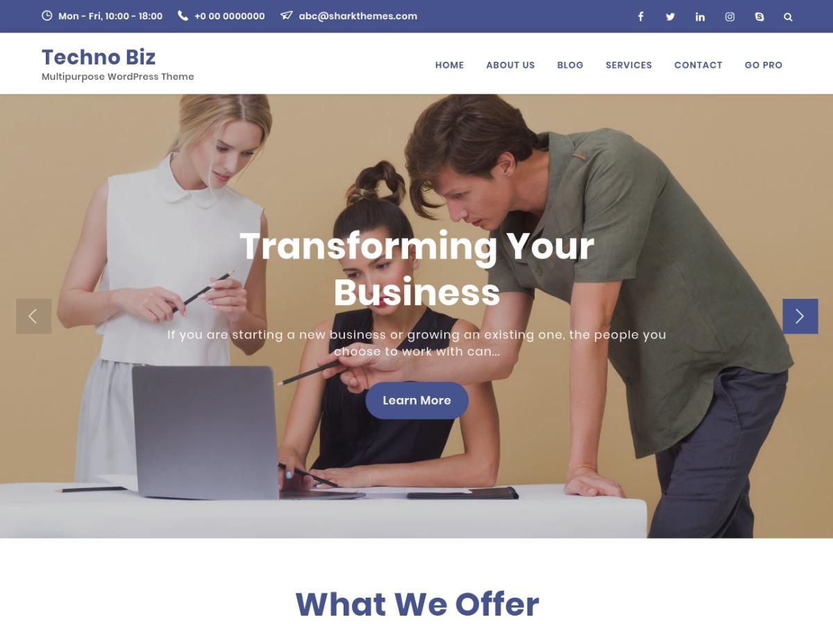 Best WordPress theme Techno Biz