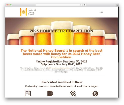 Betheme WordPress template - honeybeercompetition.com