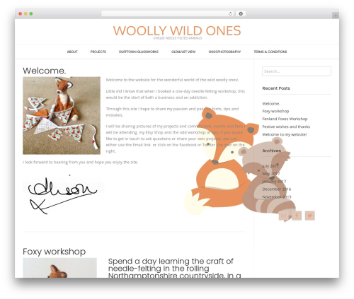 Conica free website theme - woollywildones.com