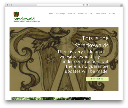 WordPress theme Ascension - streckewald.com