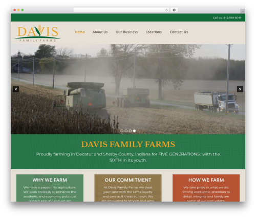 WordPress theme Customizr - davisfamilyfarmsin.com