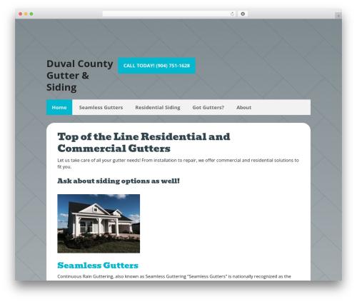 WordPress website template Executive Pro Theme - precisiongutterworksllc.com