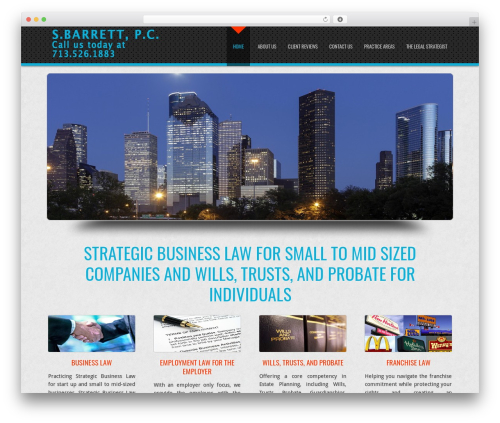 Theme WordPress D5 Business Line Extend - sbarrettlaw.com