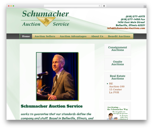 WordPress theme Child Of Responsive Theme - schumacherauctions.com