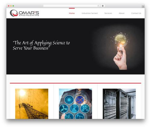 Avada WordPress template for business - omarsengineering.com