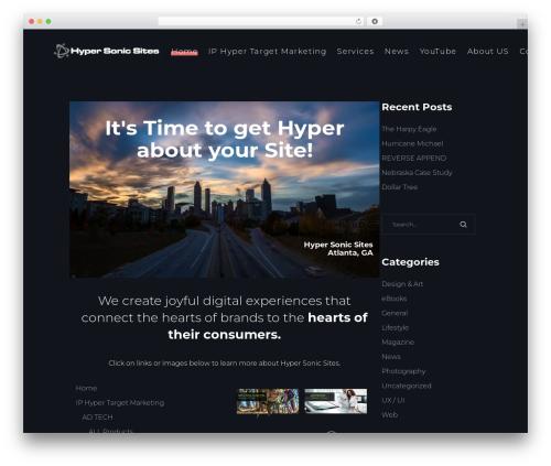 Best WordPress template SohoPRO - hypersonicsites.com