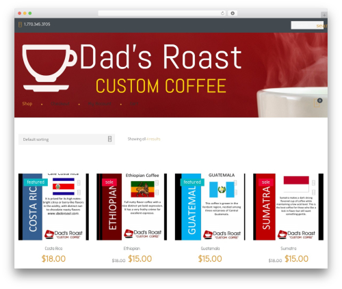 Coffeera WordPress theme - dadscoffee.com