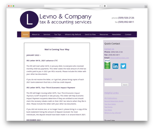 Customized theme WordPress - levnotax.com