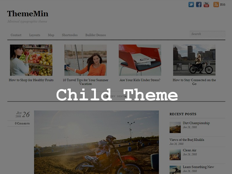 ThemeMin Child WordPress theme