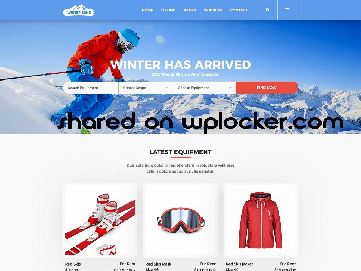 WinterZone best WordPress theme