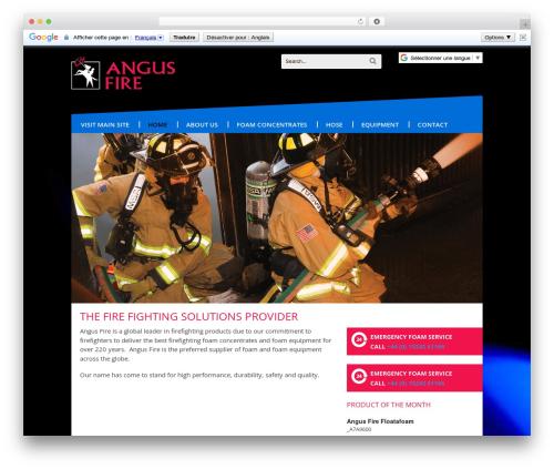 WordPress template Canvas - angusfire.com