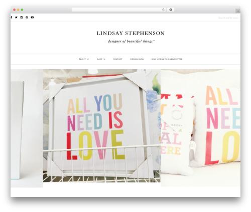 WordPress theme Oleander - lindsaystephenson.com