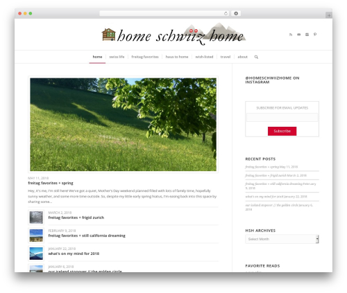 Best WordPress template Enfold - homeschwiizhome.com
