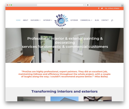 Divi business WordPress theme - proglosdecorating.com