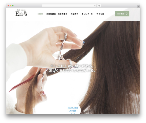 AGENT theme WordPress - hairsalon-ens.com