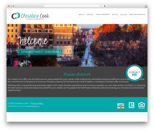 The7.2 real estate template WordPress - christinecooksells.com