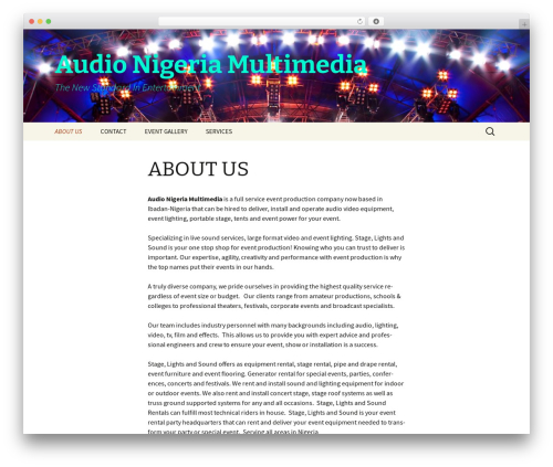 Theme WordPress Twenty Thirteen - audionigeria.com