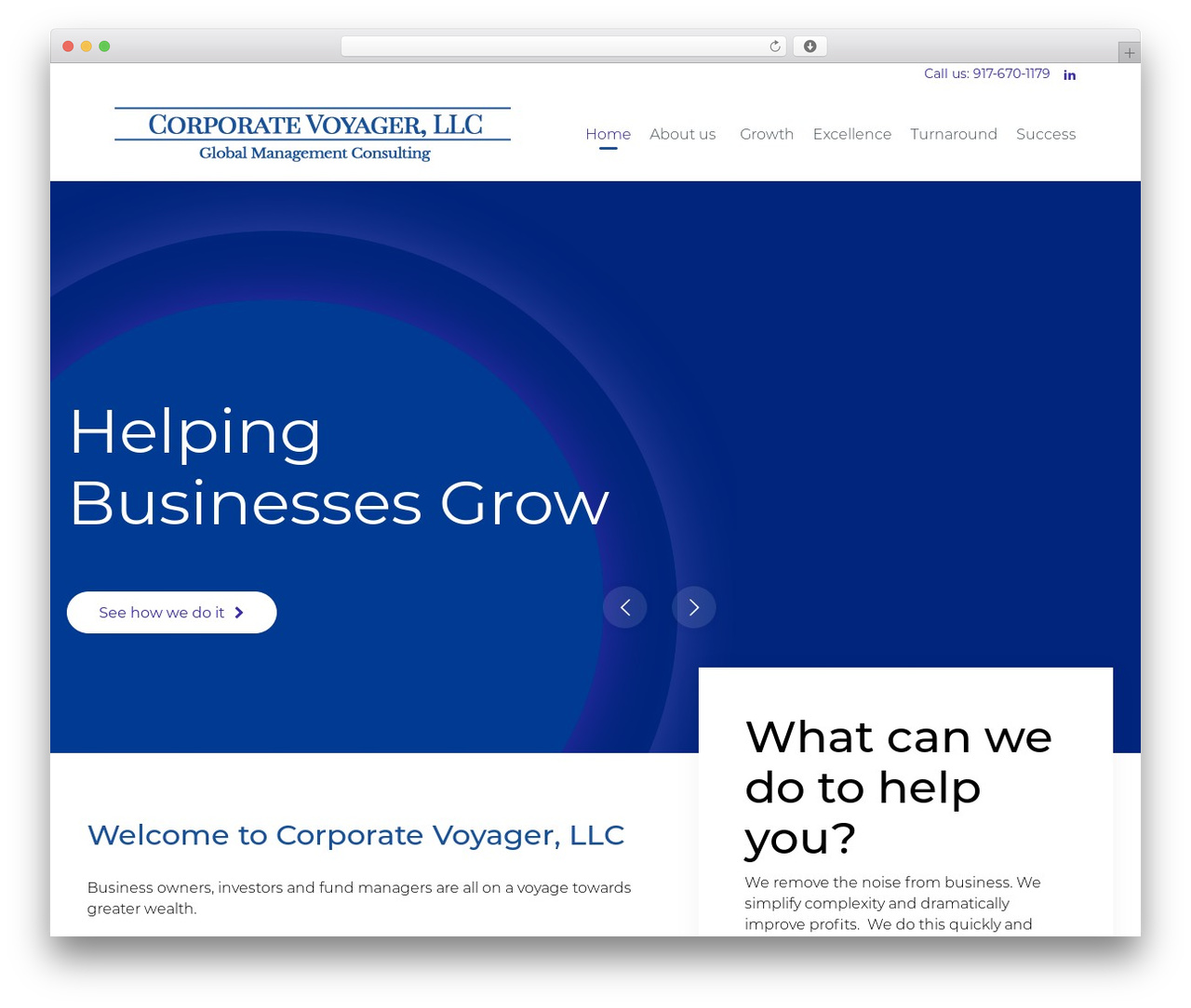 (VamTam) Consulting WordPress page template - corporatevoyager.com