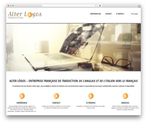 WordPress theme Solitudo - alterlogos-traduction.com