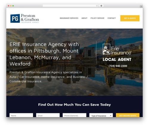 BrightFire Stellar WordPress template for business - prestongraftonagency.com