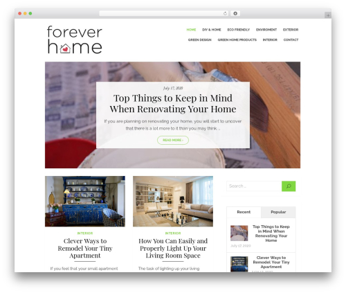 Brilliant WordPress theme free download - foreveryhome.net