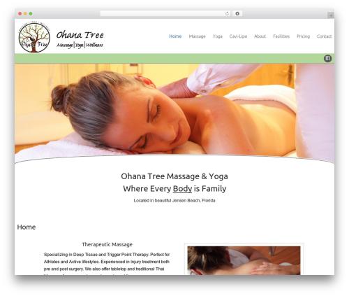 Celestial Reloaded top WordPress theme - ohanatreemassageandyoga.com