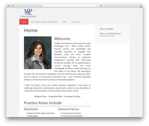 Executive Pro Theme WordPress real estate - lpm-law.com