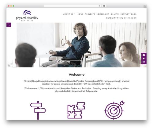 WordPress template Maisha - pda.org.au