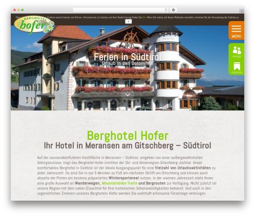 WordPress theme Divi - berghotel-hofer.it