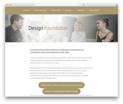 Argent free WordPress theme - designfoundation.fi