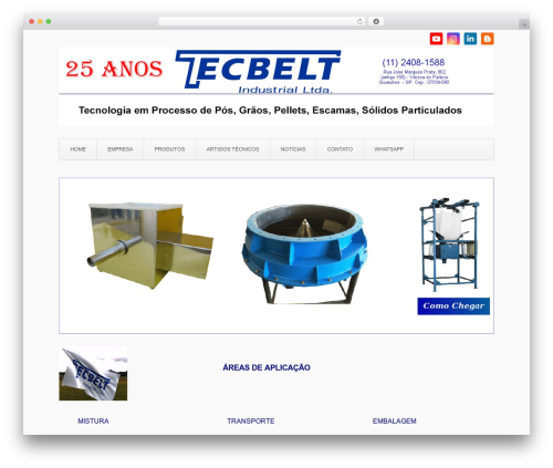 Aviator free WordPress theme - tecbelt.com.br