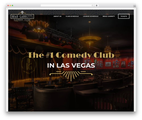 Best WordPress theme Jupiter - bradgarrettcomedy.com
