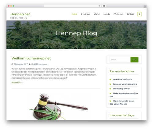 Nature Bliss WordPress template free download - hennep.net