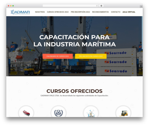 OnePirate WordPress page template - cadimar.cl