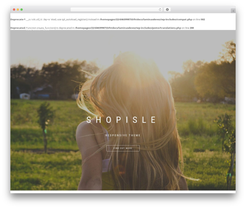ShopIsle PRO WordPress shopping theme - laminasdevoz.com