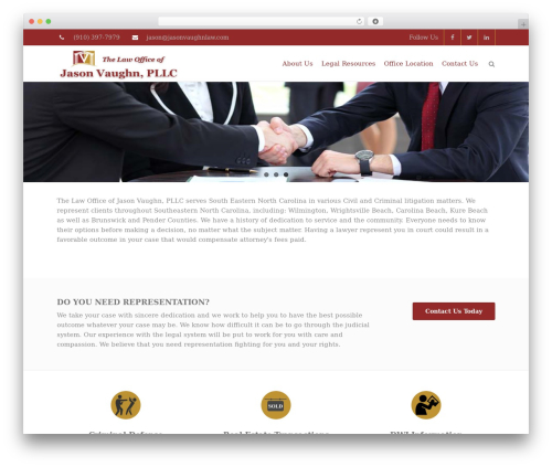 THBusiness Pro WordPress theme - jasonvaughnlaw.com