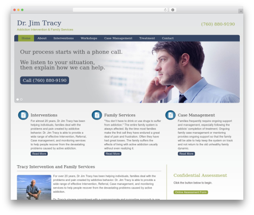 WordPress theme Augustus - drjimtracy.net
