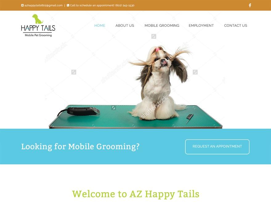 WordPress theme AZ Happy Tails Child Theme