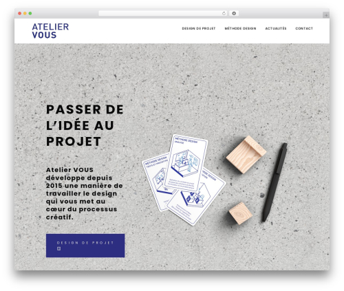 Best WordPress theme Indigo - ateliervous.fr