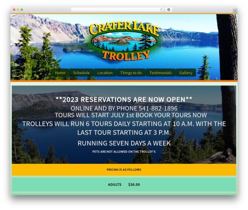 Customizr best free WordPress theme - craterlaketrolley.net