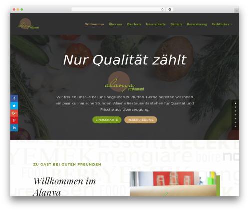 Divi WordPress restaurant theme - alanya-restaurant.de