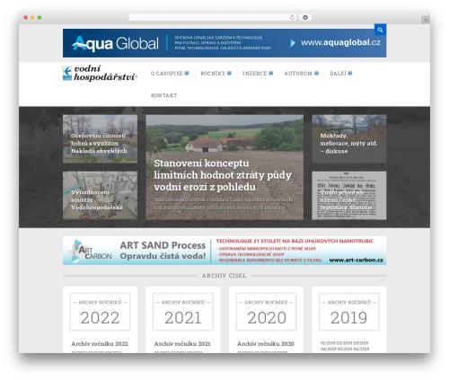 Dizzy WordPress page template - vodnihospodarstvi.cz