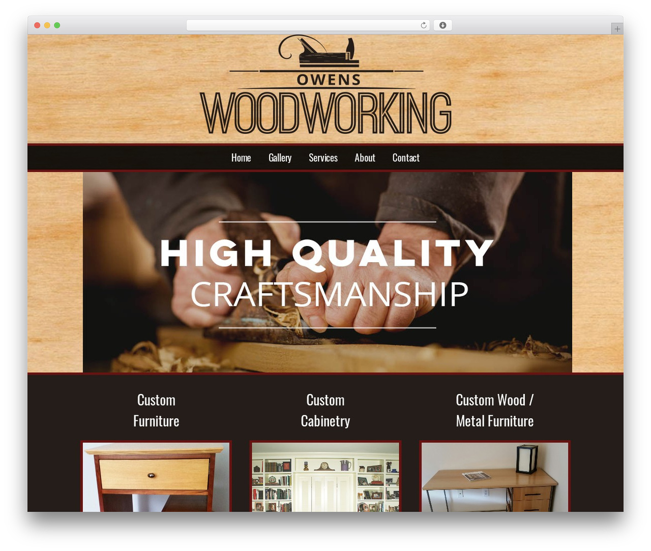 Modular WordPress theme design - owenswoodworking.com