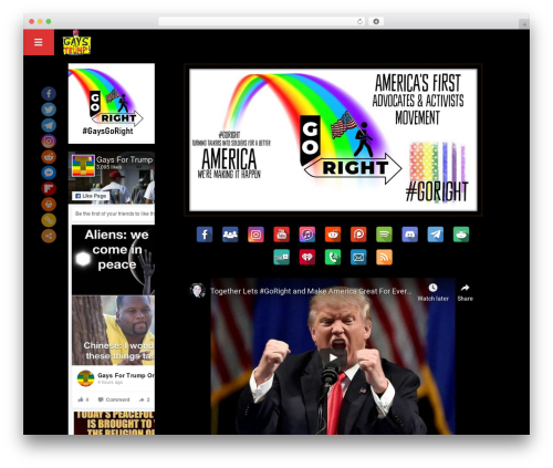 OnAir2 WordPress theme design - gaysfortrump.org