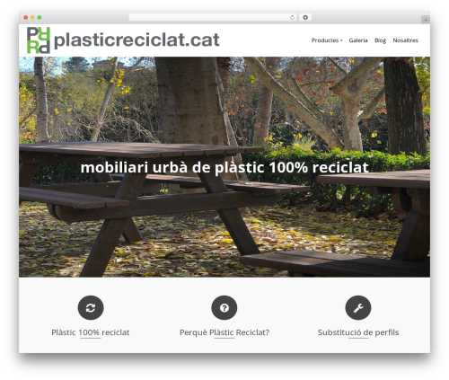 Pinnacle free WordPress theme - plasticreciclat.cat