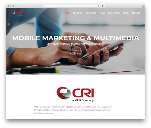 WordPress theme Blade - cri-group.eu