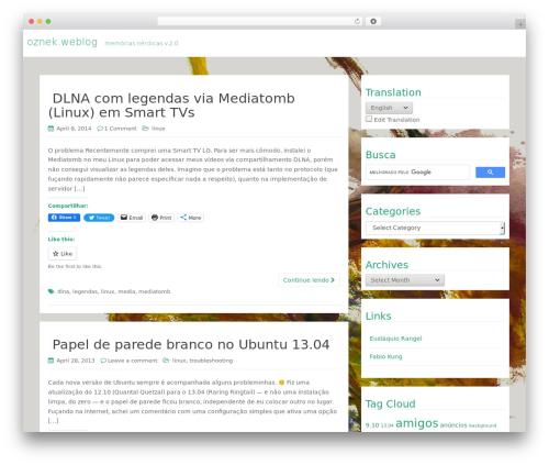 WP RootStrap WordPress template free - blog.oznek.com.br