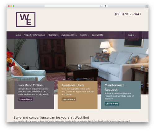Appfolio Framework (Do not use as active theme) WordPress page template - thewestendapartments.com