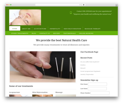 Free WordPress MailChimp for WordPress plugin - thenaturalhealthcentre.ie