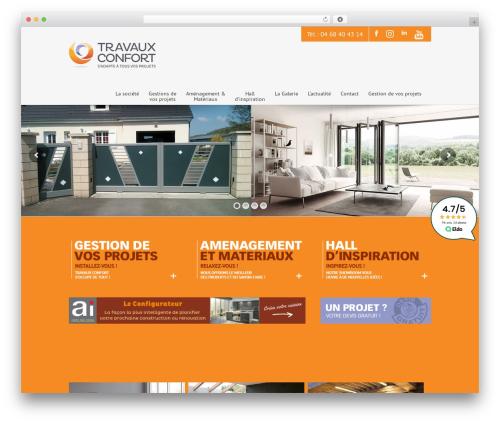 Avada WordPress theme - travauxconfort.fr
